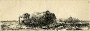 Image of Landscape with a Cottage and Hay Barn
