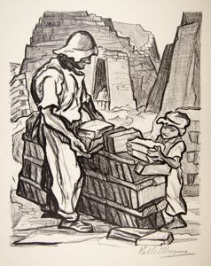 "Image of Brick Makers, from ""Mexican People"" portfolio"