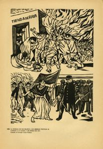 Image of Plate 13: The Rio Blanco Strike: Textile workers enter the fight. January 7, 1907
