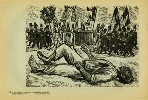 Image of Plate 19: The Porfirian dictatorship demagogically exalts the indigenous, 1910