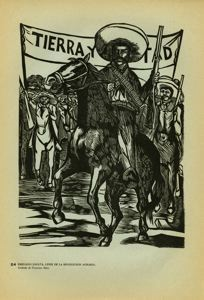 Image of Plate 24: Emiliano Zapata, leader the revolution, on horseback