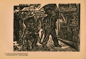 Image of Plate 11: The Cananea Strike: Mexican workers claim equal rights against Yankee workers, June 1906
