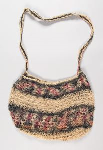 Image of A Chancay Open Weave Camelid Wool Coca Bag