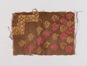 Image of A Late Lambayeque Woven Textile Fragment, zoomorphic motifs