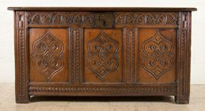 Image of 17th Century Chest, English