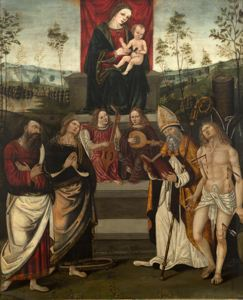 Image of Madonna and Child with Saints