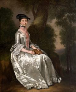 Image of Lady in White Dress