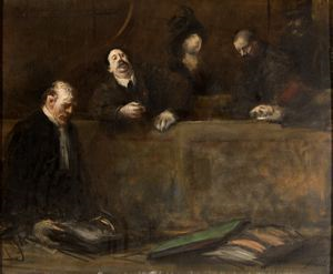 Image of Courtroom Scene (Scene d'audience, le defenseur)