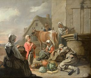 Image of Peasants Resting at a Well