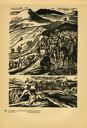 Image of Plate 43: two scenes relating to the activities of the guerillas fighting against the regime Victoriano Huerta