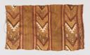 Image of A Chancay Camelid Wool Textile Fragment, with chevrons and stylized mountains