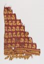 Image of A Chancay Woven Camelid Wool Textile Fragment, avian motifs