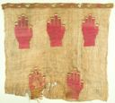 Image of A Chancay Woven Camelid Wool Gauze Panel, embroidered hand motif